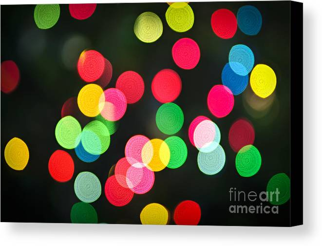 Blurred Canvas Print featuring the photograph Blurred Christmas Lights by Elena Elisseeva