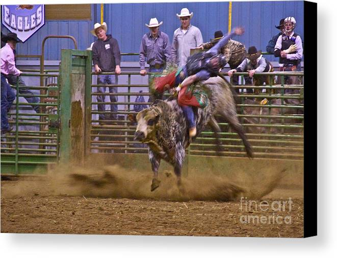 Photography Canvas Print featuring the photograph Bull Rider 1 by Sean Griffin
