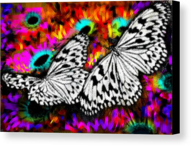 Nature Canvas Print featuring the digital art Butterfly by Ilias Athanasopoulos