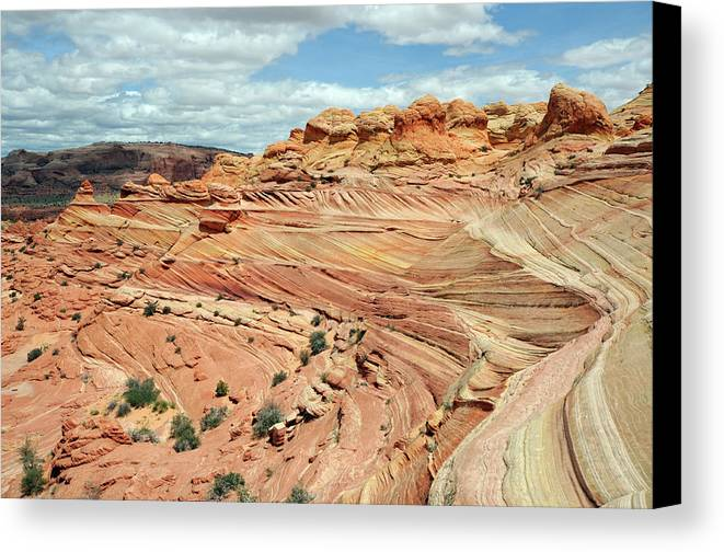 Horizontal Canvas Print featuring the photograph Coyote Buttes by David Hogan
