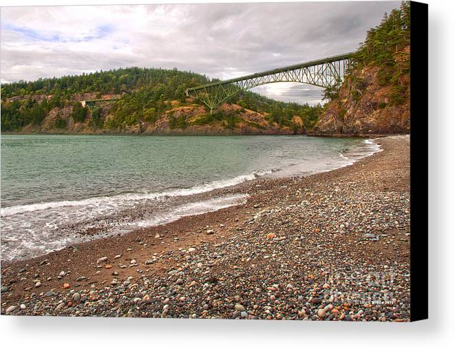 Deception Pass In Washington State Canvas Print featuring the photograph Deception Pass Washington by Artist and Photographer Laura Wrede