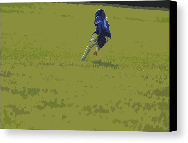 Baseball Canvas Print featuring the photograph Fielding by Peter McIntosh