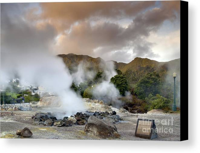 Azores Canvas Print featuring the pastel Furnas by Andre Goncalves