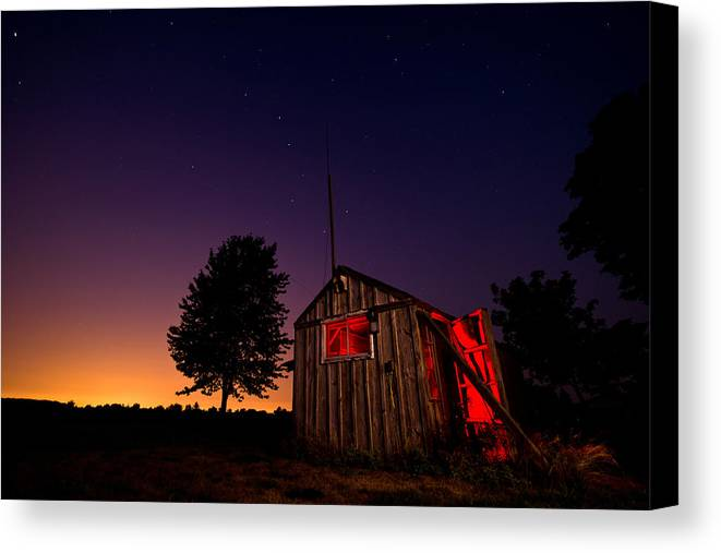 Shed Canvas Print featuring the photograph Glowing Shed by Cale Best