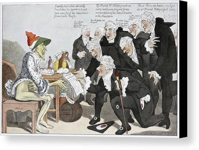 Influenza Canvas Print featuring the photograph Influenza Epidemic, Satirical Artwork by