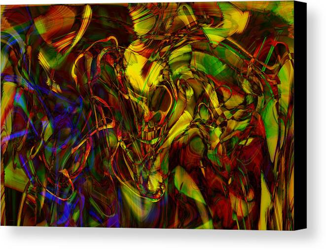 Abstract Canvas Print featuring the digital art Injections by Linda Sannuti