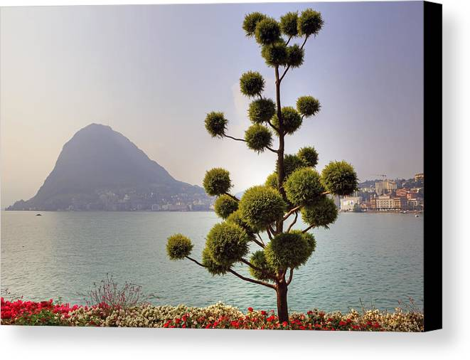 Parco Civico Canvas Print featuring the photograph Lake Lugano - Monte Salvatore by Joana Kruse