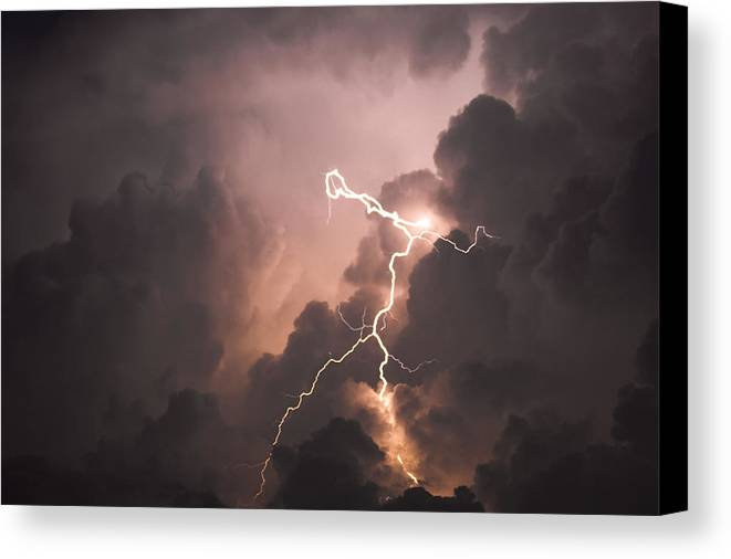 Lightning Canvas Print featuring the photograph Lightning Man by Paul Madura