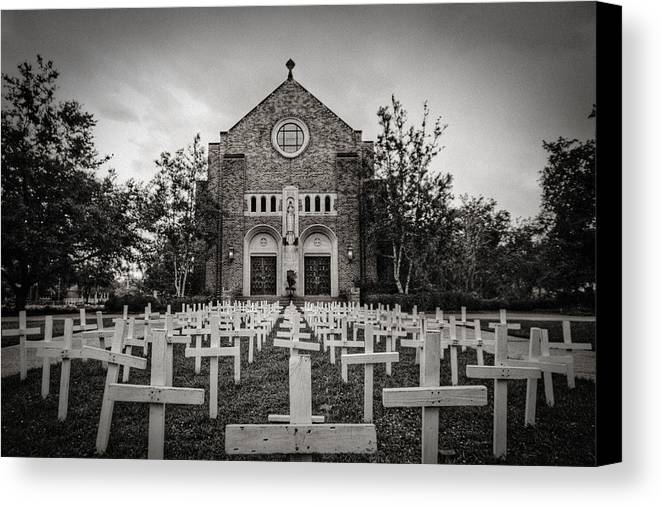 Scary Canvas Print featuring the photograph Lord Knows by Pixel Perfect by Michael Moore