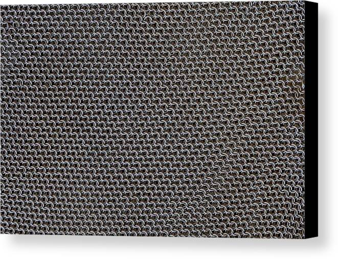 Mesh Canvas Print featuring the photograph Metal Meshwork by Dirk Wiersma