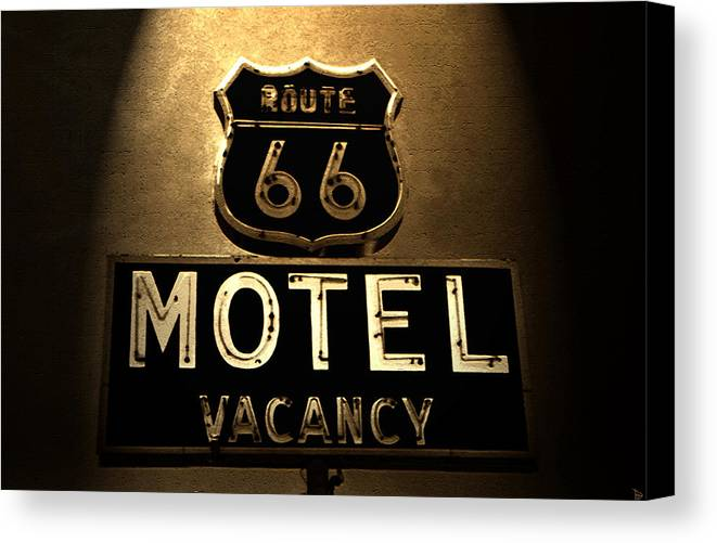 Art Canvas Print featuring the photograph Midnight On 66 by David Lee Thompson