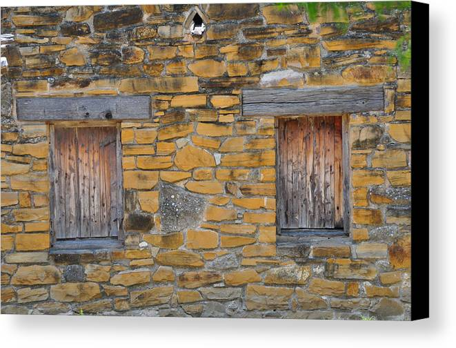 Mission Canvas Print featuring the photograph Mission Dwelling Windows by Peter McIntosh