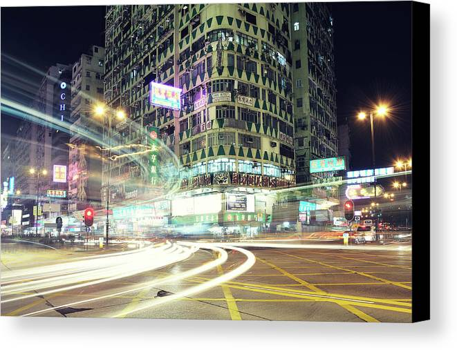 Horizontal Canvas Print featuring the photograph Nathan Road by Thank you for choosing my work.