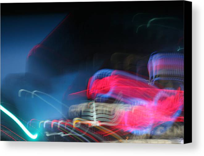 Neon Canvas Print featuring the photograph Neon Nights by Rick Rauzi