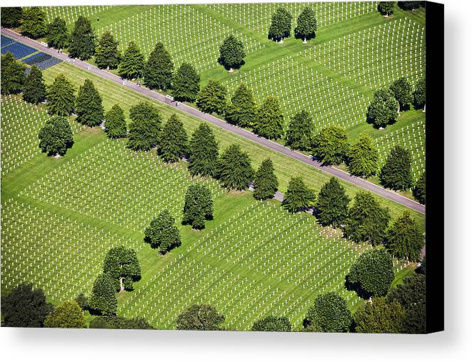 Horizontal Canvas Print featuring the photograph Netherlands, Margraten World War II Cemetery by Frans Lemmens