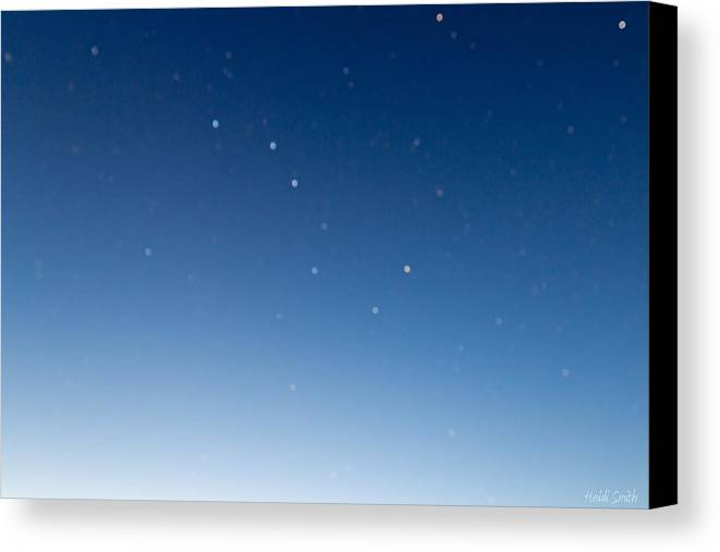 Sky Canvas Print featuring the photograph Night Sky by Heidi Smith