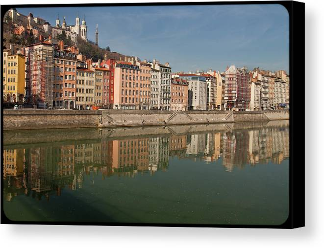 Horizontal Canvas Print featuring the photograph Old Town Of Lyon by Niall Sargent