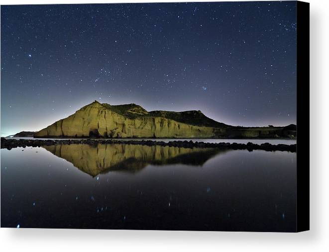 Horizontal Canvas Print featuring the photograph Reflection In Lake by Ser-y-star