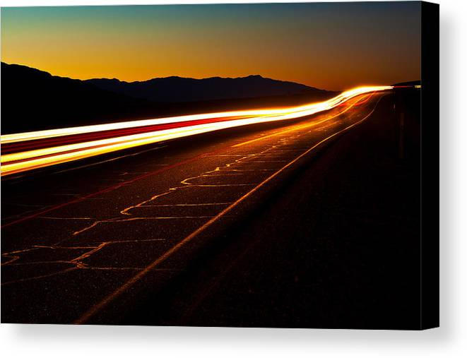 Death Valley National Park Canvas Print featuring the photograph Speed Of Light by James Marvin Phelps