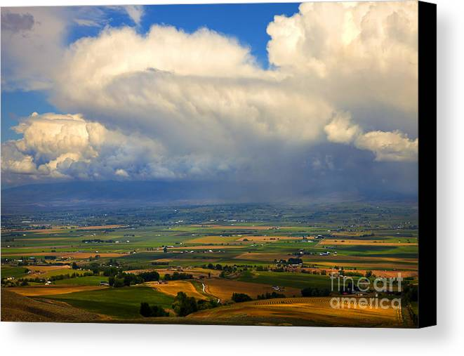 Kittitas Valley Canvas Print featuring the photograph Storm Over The Kittitas Valley by Mike Dawson