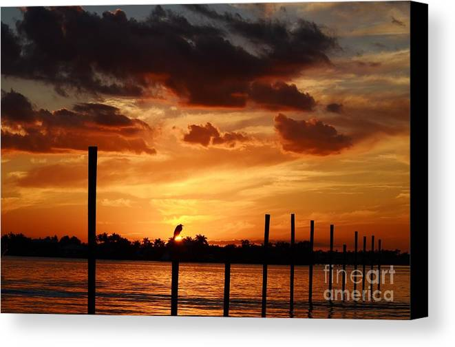 Sunset Canvas Print featuring the photograph Sunset 1-1-12 by Lynda Dawson-Youngclaus