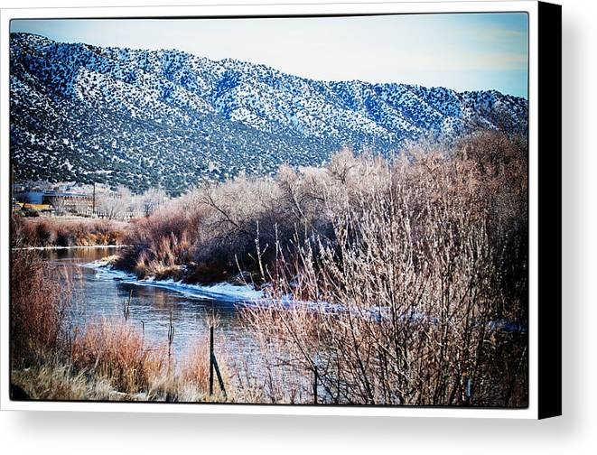 Landscape Canvas Print featuring the photograph Taos Creek by Lisa Spencer