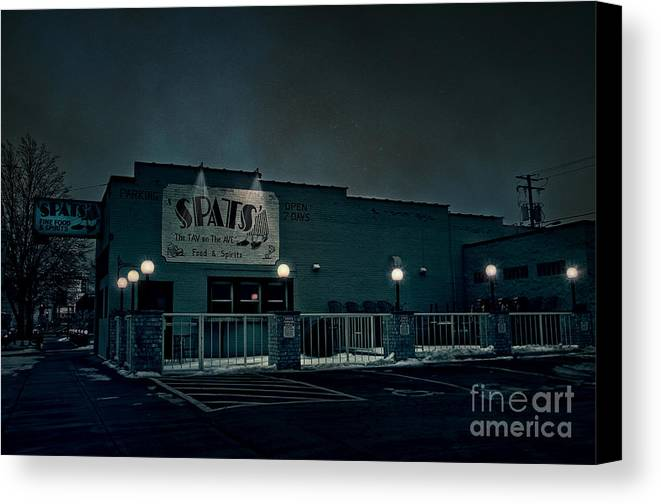 Spats Canvas Print featuring the photograph Tav On The Ave by Joel Witmeyer