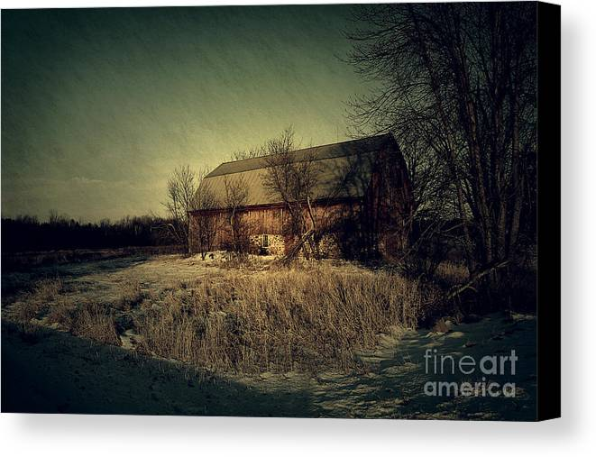 Barn Canvas Print featuring the photograph The Hiding Barn by Joel Witmeyer