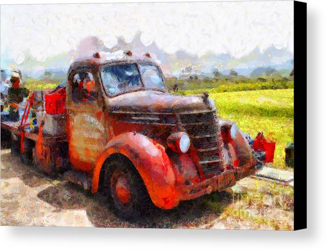 Transportation Canvas Print featuring the photograph The Old Rusty Jalopy . 7d15500 by Wingsdomain Art and Photography