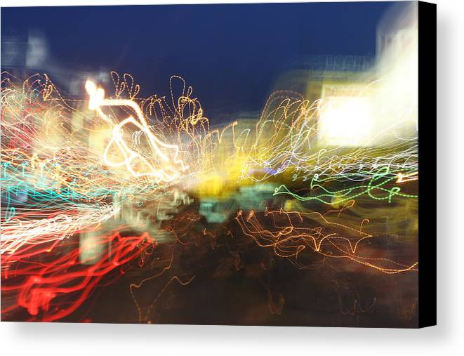 Neon Canvas Print featuring the photograph Time Tunnel by Rick Rauzi