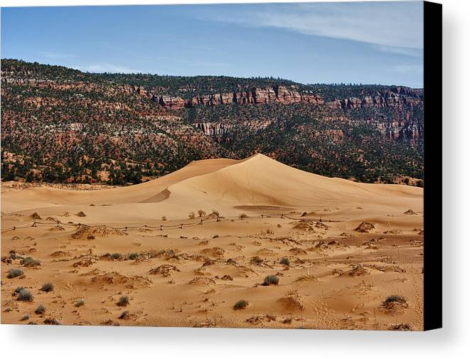 Hdr Canvas Print featuring the photograph Vermilion Dunes by Stephen Campbell
