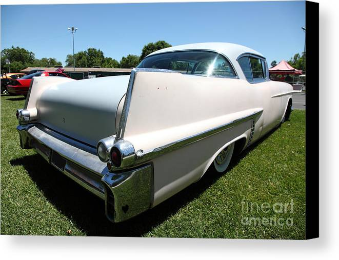 Transportation Canvas Print featuring the photograph Vintage 1957 Cadillac . 5d16688 by Wingsdomain Art and Photography