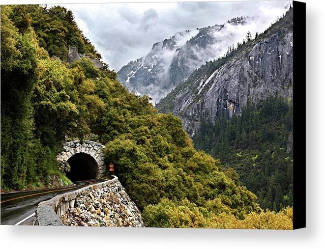 Horizontal Canvas Print featuring the photograph Yosemite Tunnel by Jill Buschlen