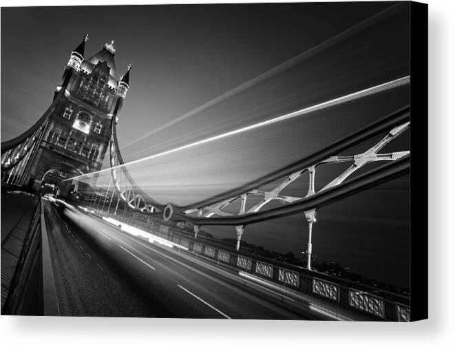 London Canvas Print featuring the photograph London Tower Bridge by Nina Papiorek