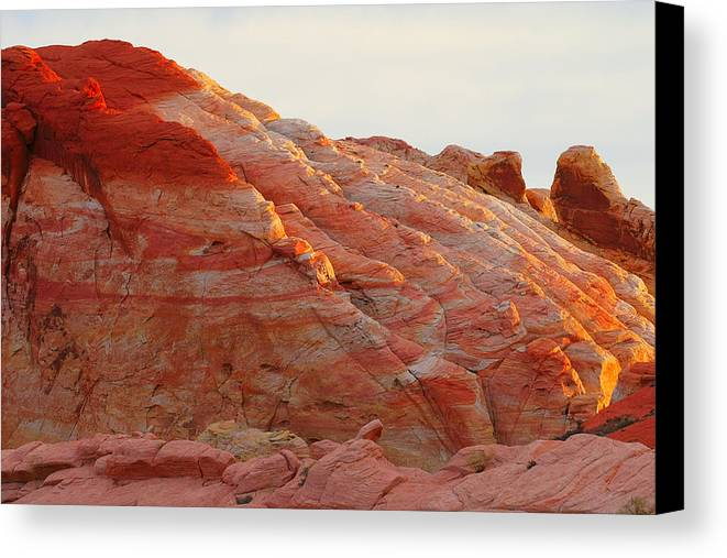 Nevada Canvas Print featuring the photograph Petrified Fire by Christine Till