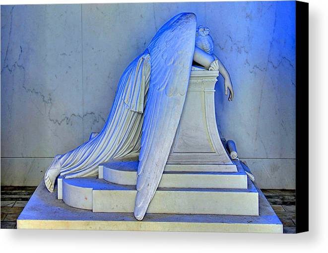 Weeping Angel Canvas Print featuring the photograph Weeping Angel by Ellis C Baldwin