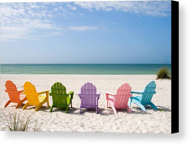 Beach Canvas Print featuring the photograph Florida Sanibel Island Summer Vacation Beach by ELITE IMAGE photography By Chad McDermott