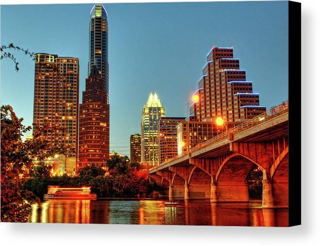 Horizontal Canvas Print featuring the photograph Below Congress Avenue Bridge by David Hensley