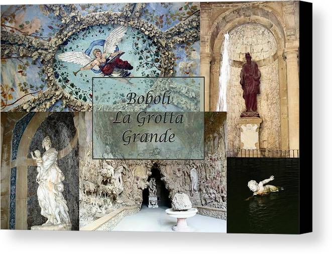 Cave Canvas Print featuring the photograph Boboli La Grotta Grande 2 by Ellen Henneke