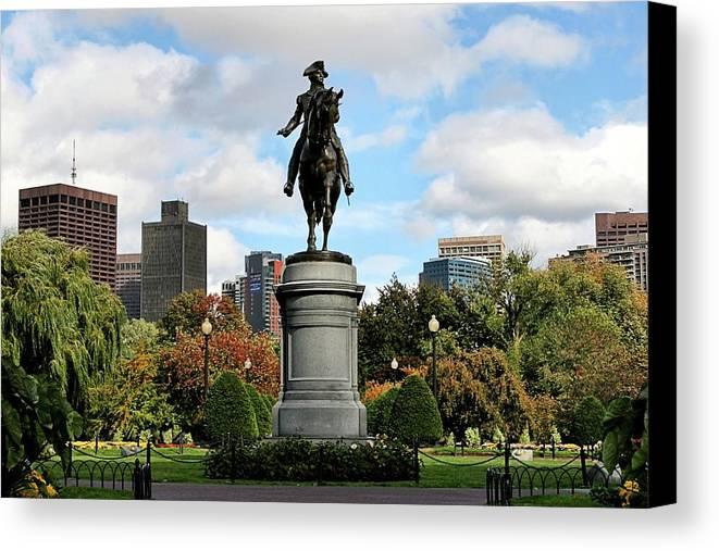 Boston Canvas Print featuring the photograph Boston Common by DJ Florek