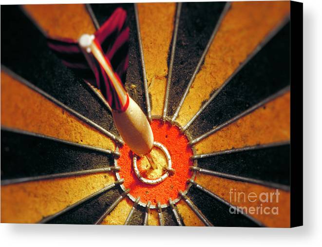 Accuracy Canvas Print featuring the photograph Bulls Eye by John Greim
