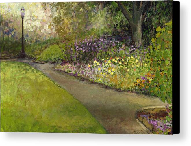plein Air Canvas Print featuring the painting Central Park by Jennifer Lommers