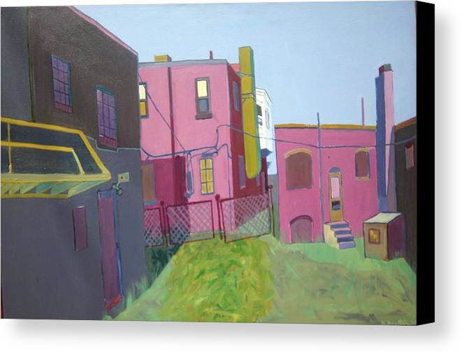 Alleyway Canvas Print featuring the painting Courtyard View by Debra Robinson