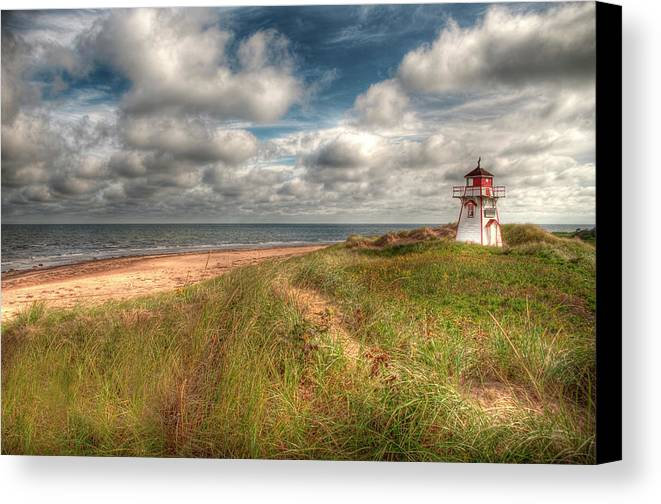 Covehead Canvas Print featuring the photograph Covehead Lighthouse by Elisabeth Van Eyken