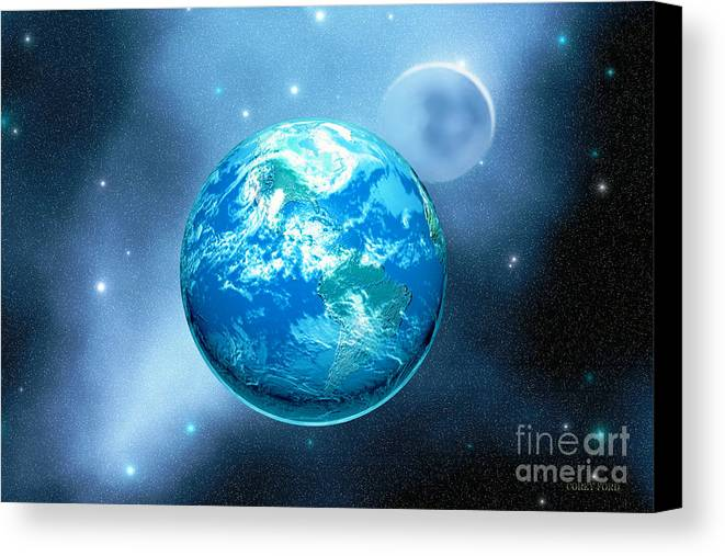 America Canvas Print featuring the painting Earth by Corey Ford