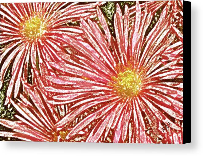 Red Canvas Print featuring the photograph Floral Design No 1 by Ben and Raisa Gertsberg