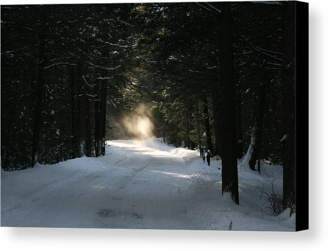 Falling Snow Canvas Print featuring the photograph Flying Angel No.2 by Neal Eslinger