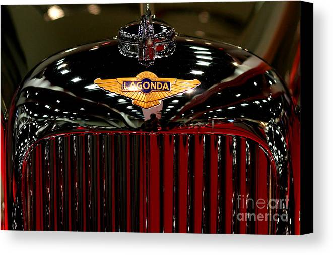 Lagonda Canvas Print featuring the photograph Lagonda Badge by Wingsdomain Art and Photography