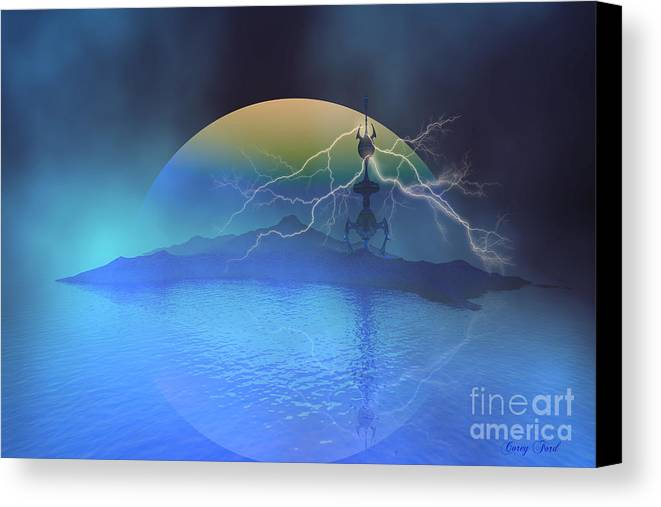 Space Art Canvas Print featuring the painting Magnetic Flux by Corey Ford