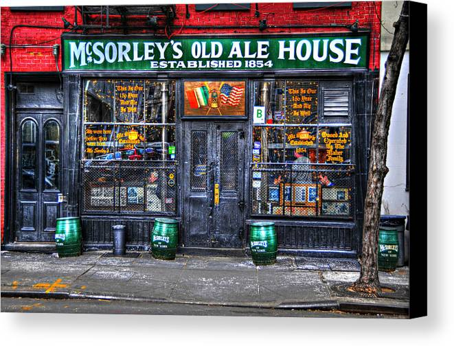 Mcsorley's Old Ale House Canvas Print featuring the photograph Mcsorley's In Color by Randy Aveille